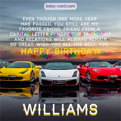 Birthday pics for Williams with Sports cars