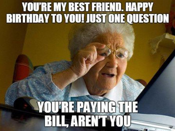 Birthday question to your best friend meme