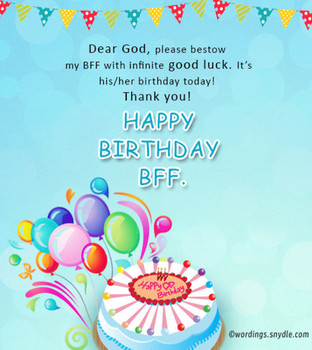 Birthday wish for best friend forever wordings and messages