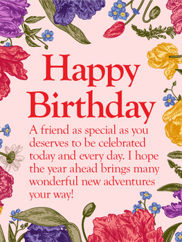 Happy birthday to my special friend card birthday amp gre...