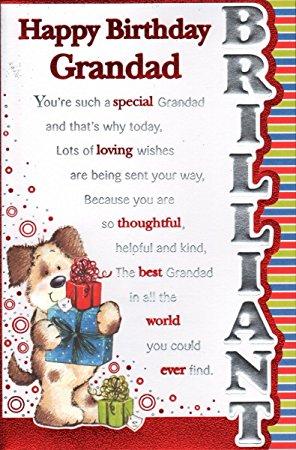Grandad Birthday Card Happy Amazon Co Uk