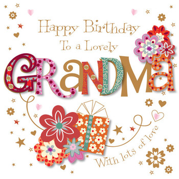 Lovely grandma happy birthday greeting card cards love ka...
