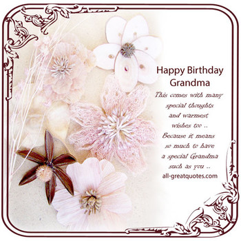 Free birthday cards for grandmother happy birthday grandma