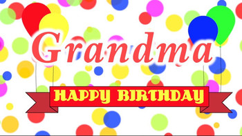 Happy birthday grandma song youtube