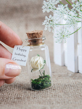 Happy birthday grandma message in a bottle mom gift