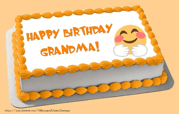 Greetings cards for birthday for grandmother cake happy