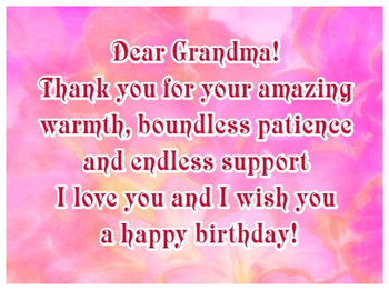 Happy Birthday Grandma Ecards For Your Grandmother