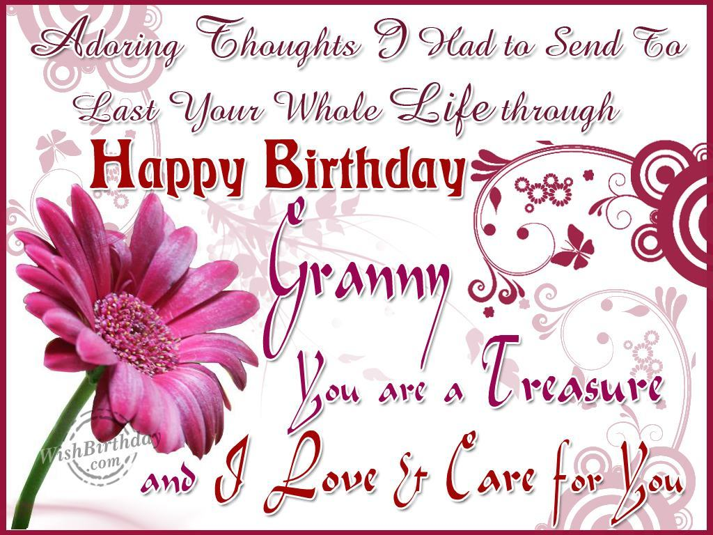 Happy Birthday Wishes With Images For Grandmother