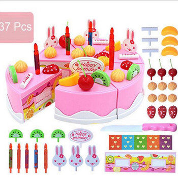 Pcs diy cutting fruit birthday cake food play toy set kid...