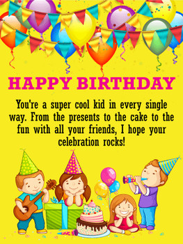 √ Birthday cards for kids birthday greeting cards by davi...
