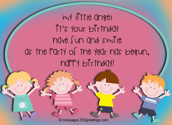 Birthday wishes for kids