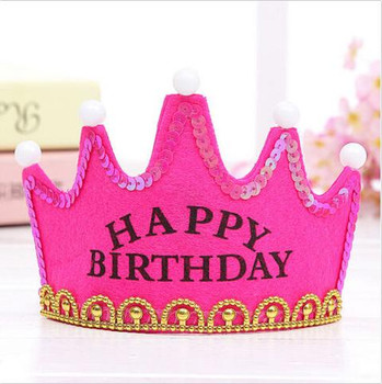 Cute happy birthday party crowns – cake decorating
