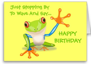 Cute frog funny animal kids happy birthday card th birthday