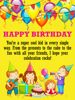 To a super kid happy birthday wishes card birthday amp gr...