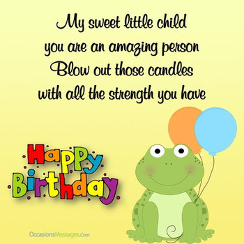 Happy birthday wishes for kids occasions messages