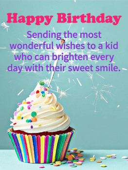You brighten days happy birthday wishes card for kids a k...