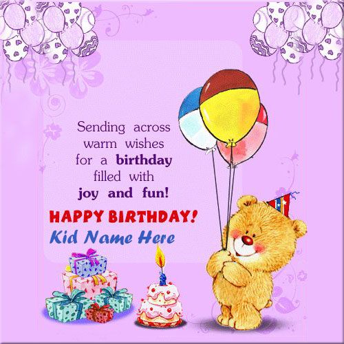 Happy Birthday Wishes With Images For Kids