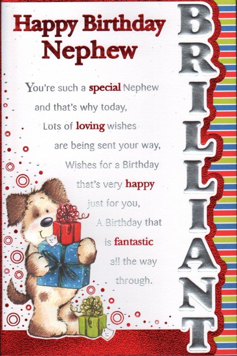 Nephew Birthday Card Happy Birthday Nephew Amazon Co Uk O Happy
