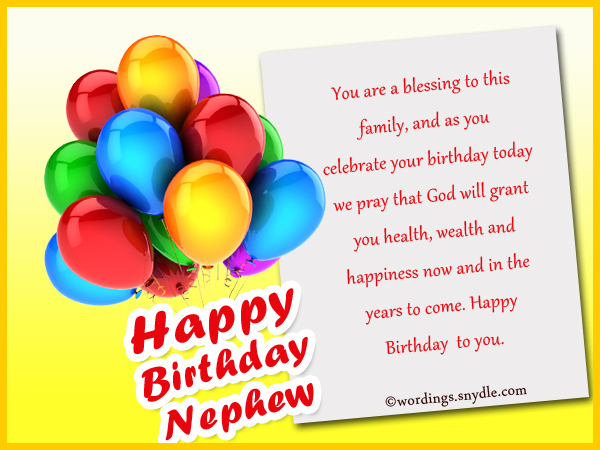 Nephew Birthday Messages Happy Wishes For