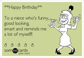 Get Fancy Funny Birthday Card For Niece Amp Gree