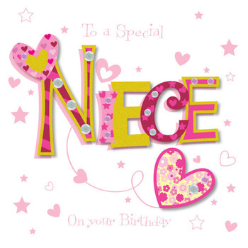 Special niece happy birthday greeting card cards love kates