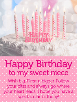 Have a spectacular day happy birthday wishes card for niece