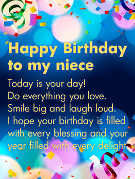 Today is your day happy birthday wishes card for niece bi...