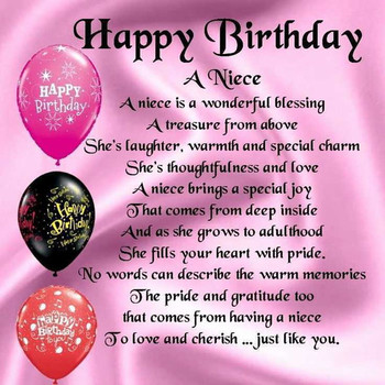 Download  fresh birthday wishes to my niece images free