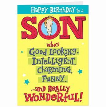 picture relating to Free Printable Birthday Cards for Son referred to as Style no cost printable birthday playing cards against son toward father as well as
