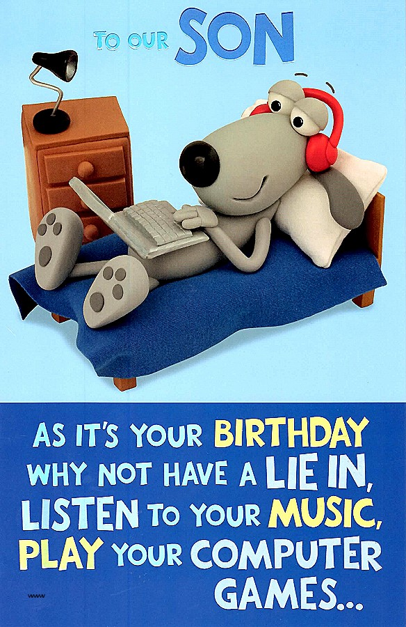 Happy Birthday My Son Cards Lovely Funny Quotes