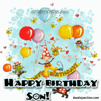 Happy Birthday Wishes Animated Cards For Son Best Greetings