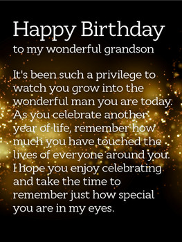 Happy Birthday Grandson Free Extended Family Ecards Greet