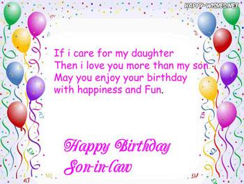 Happy Birthday Wishes To My Son In Law Elegant Best