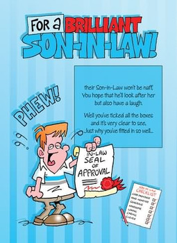 Cute Funny Son In Law Birthday Greeting Card Cards Love K