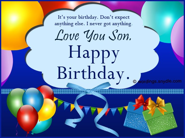 Happy birthday wishes for son from mom dad birthday hd im