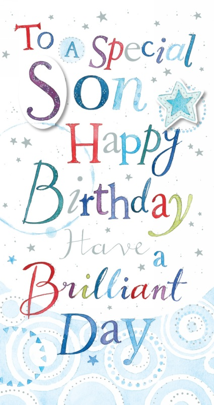 Ling Design Son Happy Birthday Card Whsmith