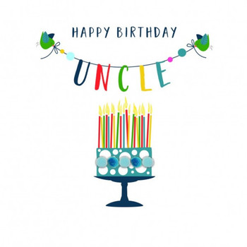 Birthday card uncle pompom happy birthday uncle