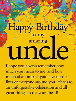 To an unforgettable year happy birthday wishes card for u...