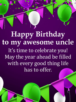 Birthday cards for uncle birthday amp greeting cards by d...