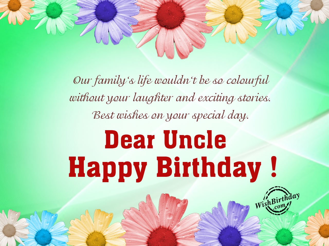 Birthday Wishes For Uncle Images Pictures