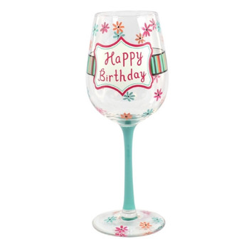Happy birthday wine glass funky hampers