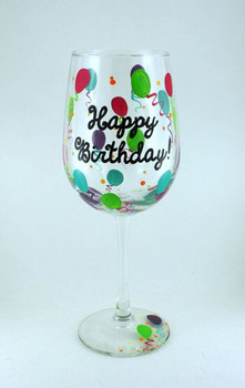 Best birthday wine glasses images on pinterest birthday w...