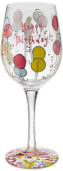 Amazon com lilly pulitzer hand painted wine glass happy