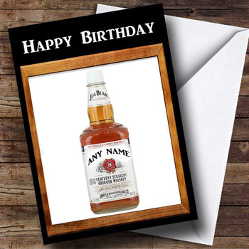 Jim beam whiskey personalised birthday card the card zoo