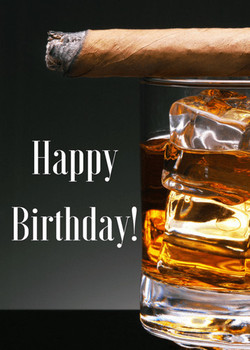 Man cards birthday cigar amp whiskey