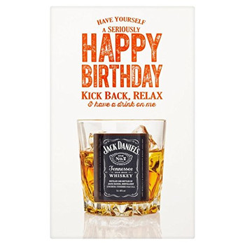 Happy birthday jack daniel whisky ml miniature prezzie ca...