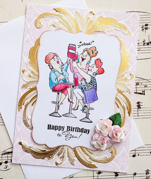 Beautiful vintage inspired birthday card paper flowers hand