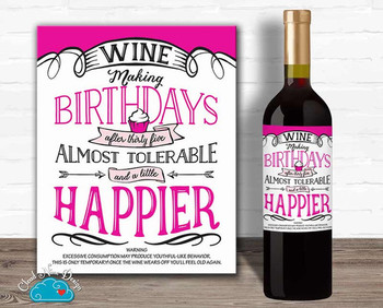 Funny birthday label for your girlfriends over httpswww