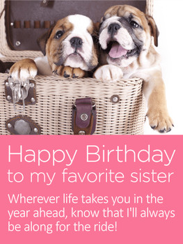 To my favorite sister happy birthday card for sister birt...