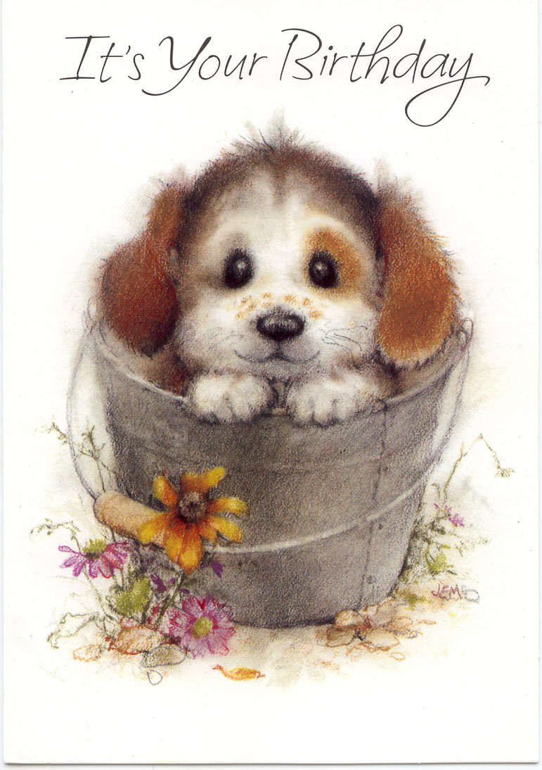Birthday Wishes With Puppies Page